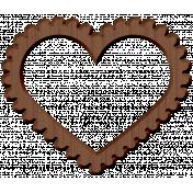 Panda Love Wood Heart Frame
