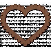 Panda Love Wood Heart Frame 2
