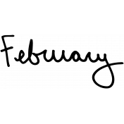 Handwritten Calendar Word February
