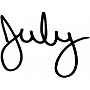 Handwritten Calendar Word July