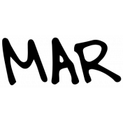Handwritten Calendar Word Mar