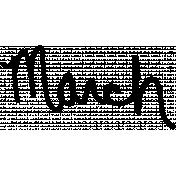 Handwritten Calendar Word March