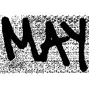 Handwritten Calendar Word May
