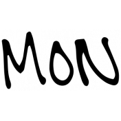 Handwritten Calendar Word Mon