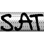 Handwritten Calendar Word Sat