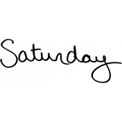 Handwritten Calendar Word Saturday2