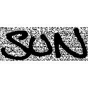 Handwritten Calendar Word Sun