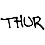 Handwritten Calendar Word Thur
