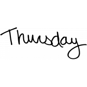 Handwritten Calendar Word Thursday2