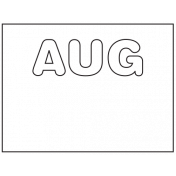 Everyday Word Art August
