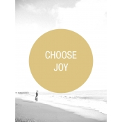 Photo Pocket Card Choose Joy