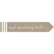 Kraft Travel Label Amazing World 1