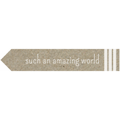 Kraft Travel Label Amazing World 2