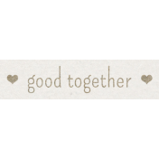 Kraft Travel Label Good Together