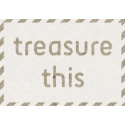 Kraft Travel Label Treasure This