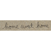 Travel Word Snippet Home Sweet Home