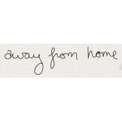Travel Word Snippet Away From Home