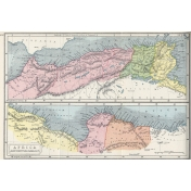Ephemera 012 Africaseptentrionalis Vintage Map