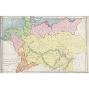 Ephemera 018 Germania Vintage Map