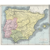 Ephemera 020 Hispania Vintage Map