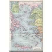 Ephemera 021 Insulaemarisaegaei Vintage Map