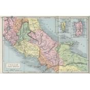 Ephemera 022 Italaemedia Vintage Map