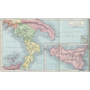 Ephemera 023 Italaemeridionalis Vintage Map