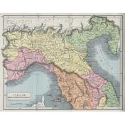 Ephemera 024 Italaeseptentrionis Vintage Map