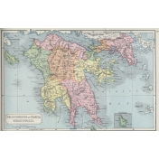 Ephemera 033 Peloponnesus Vintage Map