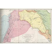 Ephemera 035 Syria Vintage Map