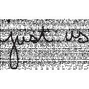 Handwritten Just Us
