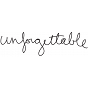 Handwritten Unforgettable