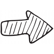 Arrow 043 Stamp Template