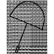 Doodle Umbrella 02 Template