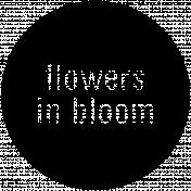 Easter Word Art Flowers In Bloom