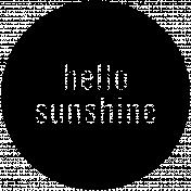 Easter Word Art Hello Sunshine