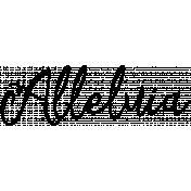 Easter Word Art Alleluia