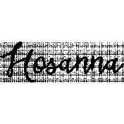 Easter Word Art Hosanna