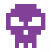 Video Game Valentine Sticker Skull