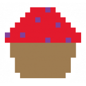 Video Game Valentine Sticker Cupcake2