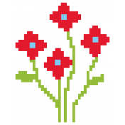 Video Game Valentine Sticker Flower1 Sm