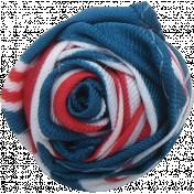 Oregonian Fabric Flower 038- Blue