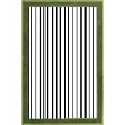 Birdhouse Green Paper Frame