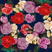Be Bold Floral Rose Paper