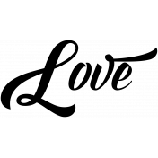 Be Bold Word Art Love