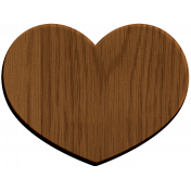 Oregonian Wood Heart- Large