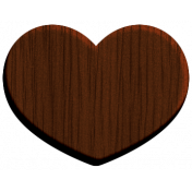 Oregonian Wood Heart- Dark