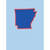Journal Card Arkansas 3x4