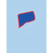 Journal Card Connecticut 3x4