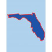 Journal Card Florida 3x4